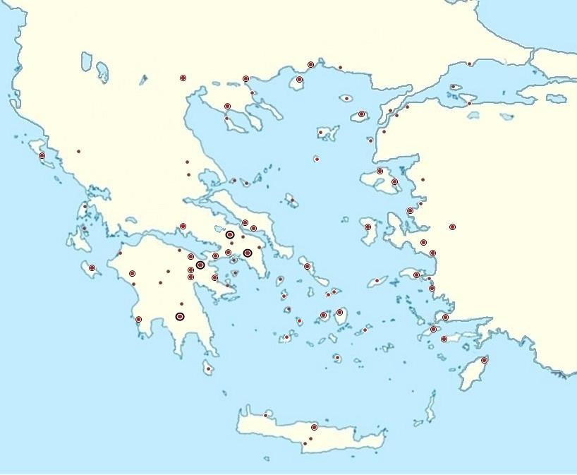 Cartina Muta Della Grecia.Test Sulle Citta Greche
